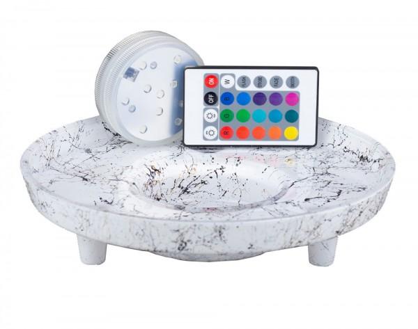 Venoz LED T1 Picasso White - LED Untersetzer