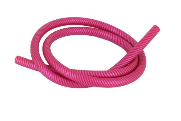 Shisha Schlauch Carbonmuster pink
