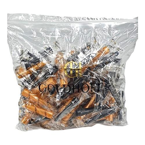 Hygienemundstücke schwarz/gold 80 Stk