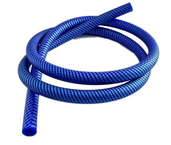 Shisha Schlauch Carbonmuster blau